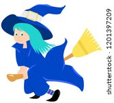 witch vector illustration ... | Shutterstock .eps vector #1201397209