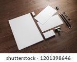 photo of blank stationery set... | Shutterstock . vector #1201398646