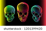 3 psychedelic gradient colorful ...   Shutterstock .eps vector #1201399420
