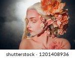 young beautiful girl elf.... | Shutterstock . vector #1201408936