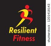 resilient fitness logo template | Shutterstock .eps vector #1201418143