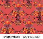 seamless watercolor pattern in... | Shutterstock . vector #1201433230