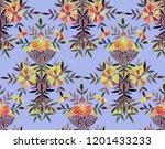seamless watercolor pattern in... | Shutterstock . vector #1201433233