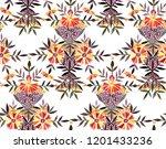 seamless watercolor pattern in... | Shutterstock . vector #1201433236