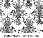 seamless watercolor pattern in... | Shutterstock . vector #1201433239