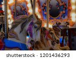 merry go round horses at night | Shutterstock . vector #1201436293
