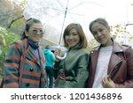 three asian woman friend... | Shutterstock . vector #1201436896