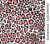 leopard pattern.silk scarf.for... | Shutterstock . vector #1201440940