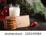 Cookie With Milk And Letter Fo...