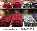 different colorful stacked... | Shutterstock . vector #1201463659