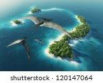dinosaurs natural park.... | Shutterstock . vector #120147064