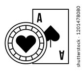 card ace chip casino game bet | Shutterstock .eps vector #1201478080