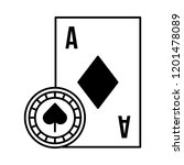 card ace chip casino game bet | Shutterstock .eps vector #1201478089