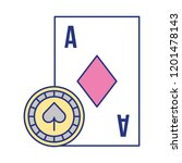 card ace chip casino game bet | Shutterstock .eps vector #1201478143