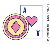 card ace chip casino game bet | Shutterstock .eps vector #1201478146