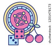 roulette dices casino game bet | Shutterstock .eps vector #1201478173