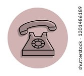 home phone icon in badge style. ...