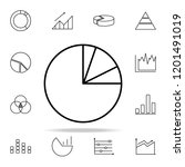 pie chart line icon. chart and...