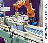 robotic arm manipulator and... | Shutterstock . vector #1201493179
