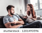problems in family. unhappy... | Shutterstock . vector #1201493596