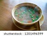 tibetan soup  tibetan vegetable ... | Shutterstock . vector #1201496599