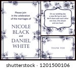 invitation greeting card with... | Shutterstock .eps vector #1201500106