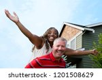mixed race couple | Shutterstock . vector #1201508629