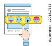 social network technology | Shutterstock .eps vector #1201517953