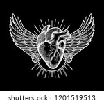 decorative naturalistic heart... | Shutterstock .eps vector #1201519513