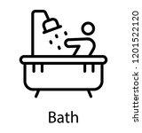bathtub design icon for shower  ...   Shutterstock .eps vector #1201522120