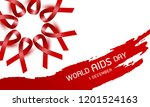 world aids day design of red... | Shutterstock .eps vector #1201524163