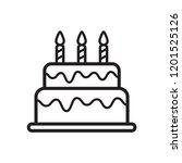 birthday cake icon in trendy... | Shutterstock .eps vector #1201525126