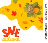 autumn sale discount banner... | Shutterstock .eps vector #1201527196