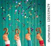 happy new year 2019  confetti... | Shutterstock . vector #1201539679