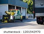 big rig powerful tow semi truck ...   Shutterstock . vector #1201542970