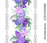 embroidery colorful simplified  ... | Shutterstock .eps vector #1201543480
