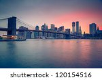 Brooklyn Bridge At Dusk  New...