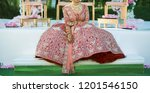 pakistani indian bride showing... | Shutterstock . vector #1201546150