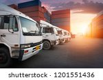 industrial container yard with... | Shutterstock . vector #1201551436