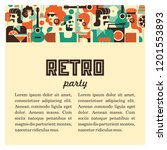 Retro Party. Men And Women...
