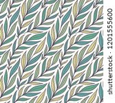 hand drawn pattern with... | Shutterstock . vector #1201555600