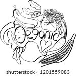 beautiful black  white graphic...   Shutterstock .eps vector #1201559083