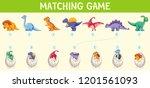 matching dinosaur number... | Shutterstock .eps vector #1201561093