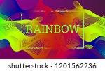 rainbow fluid background.... | Shutterstock .eps vector #1201562236