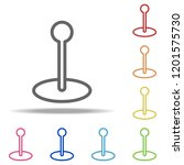 flagpole icon. elements of... | Shutterstock . vector #1201575730