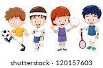 Illustration Of  Cartoon Kids...