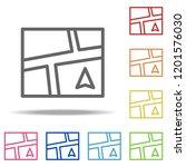 navigator screen icon. elements ...