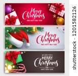 christmas vector banner design... | Shutterstock .eps vector #1201582126