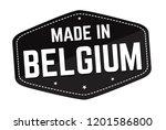 made in belgium label or... | Shutterstock .eps vector #1201586800