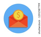 envelope and coin colored icon...